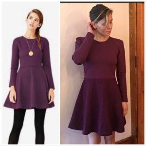 Kate Spade Saturday burgundy long sleeve dress 2